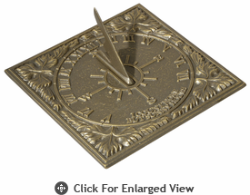 Whitehall  Sunny Hours Sundials  French Bronze