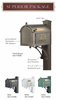 Whitehall Superior Mailboxes Black