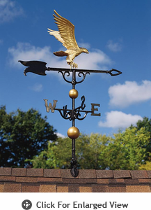 """Whitehall Traditional Directions Collection 46"""" Full-Bodied Eagle Weathervanes"""