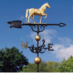 "Whitehall  Traditional Directions Collection  46"" Full-Bodied Horse Weathervanes"