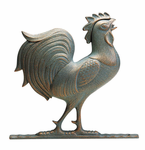 "Whitehall   Traditional Directions Collection  46"" Full-Bodied Rooster Weathervanes"
