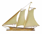 "Whitehall  Traditional Directions Collection  46"" Full-Bodied Yacht Weathervanes"