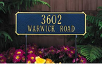 Whitehall   Two-sided Rectangle  Address Plaques