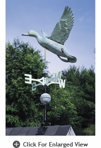 Whitehall Verdigris Copper Duck Weathervane