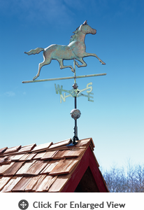 Whitehall Verdigris Copper Horse Weathervane