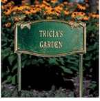 Whitehall  Vine/Chickadee Garden Address Plaques