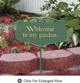 "Whitehall ""Welcome to my garden.""Garden Poem Plaque"