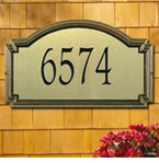 Whitehall  Williamsburg Artisan Metal  Address Plaques