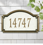 Whitehall  Williamsburg Artisan Stone  Address Plaques