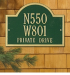 Whitehall  Wisconsin Special  Address Plaques
