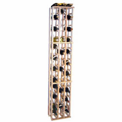 Wine Cellar Innovations Country Pine 3 Column Individual Wine Cellar Rack