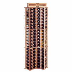 Wine Cellar Innovations Country Pine Curved Corner Wine Cellar Rack