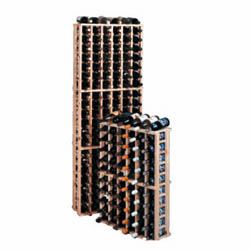 Wine Cellar Innovations Country Pine Half Individual Bottle Wine Cellar Rack