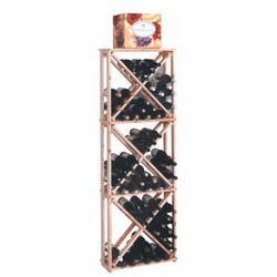 Wine Cellar Innovations Country Pine Open Diamond Cube Wine Cellar Rack
