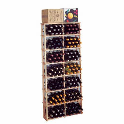 Wine Cellar Innovations Country Pine Rectangular Bin Wine Cellar Rack