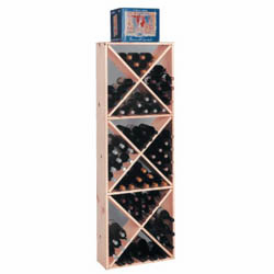 Wine Cellar Innovations Country Pine Solid Diamond Cube Wine Cellar Rack