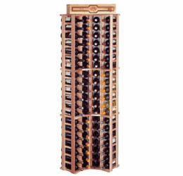 Wine Cellar Innovations Premium Redwood Curved Corner Wine Cellar Rack