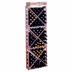 Wine Cellar Innovations Premium Redwood Open Diamond Cubes Wine Cellar Rack