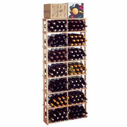 Wine Cellar Innovations Premium Redwood Rectangular Bin Wine Cellar Rack