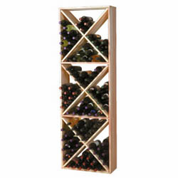 Wine Cellar Innovations Premium Redwood Solid Diamond Cube Wine Cellar Rack