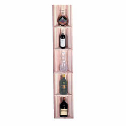 Wine Cellar Innovations Premium Redwood Triangular Display Shelf