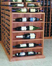 Wine Cellar Innovations  Vertical Display Wine Cellar Rack