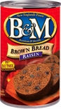B&M Bread Brown with Raisins 16 oz.