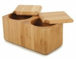 * Core Bamboo Double Square Salt Box