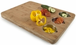Core Bamboo Pro-Chef Butcher's Block with 3 Prep Bowls