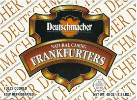 Deutschmacher Frankfurters Natural Casing 2.5 lbs.