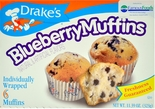 Drake's Blueberry Muffins 6 ct. (2 Boxes)