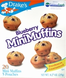 Drake's Mini Muffins Blueberry (2 Boxes)