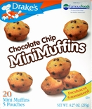 Drake's Mini Muffins Chocolate Chip (2 Boxes)