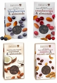 Harvest Sweets Dark Chocolate Covered Fruit & Nut Variety 4 Pack