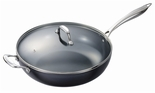 Kyocera 12.5� Nonstick Ceramic Coated Wok with Lid
