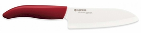 Kyocera Revolution 5.5 in. Ceramic Santoku Knife Red Handle