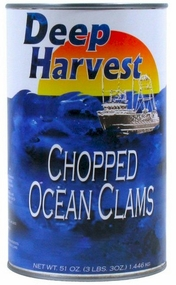 Deep Harvest Ocean Chopped Clams 51 oz.