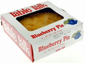 Table Talk Blueberry Pie 4 oz. (4 Pack)