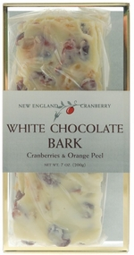 * White Chocolate Bark with Cranberries & Orange Peel 7 oz. Gift Box
