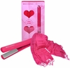 "Bio Ionic 1"" Pink iSmooth Ionic Conditioning Freestyle Flat Iron"