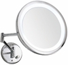 Danielle 10X Magnification Chrome Wall Mounted Lit Mirror D116