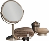 Danielle 10X Magnification Satin Nickel Vanity Mirror D239