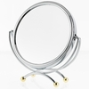 Danielle 2 Tone 10X Magnification Low Profile Vanity Mirror With Gold Plated Accents D821