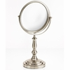 Danielle 5X Magnification Brushed Silver Ultra Vue Metal Vanity Mirror D856