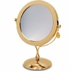 Danielle 7X Magnification Brass Vanity Mirror D259A