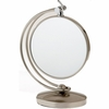 Danielle 7X Magnification Brushed Nickel Swivel Vanity Mirror D327