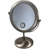 Danielle 7X Magnification Brushed Silver Vanity Mirror D249A