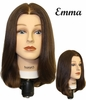 "Hairart 12""-14"" Emma Female Mannequin Head Medium Brown Virgin European Hair 4822MD"