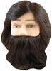 "Hairart Abe  8"" Mannequin With Beard Deluxe Mannequin Head 84MDB"