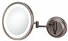 Kimball & Young 5X Italian Bronze Single Sided LED Round Wall Mirror 92415HW